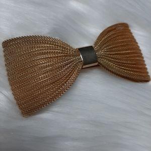 Kirks Folly Vintage Goldtone Mesh Bow Hair Clip